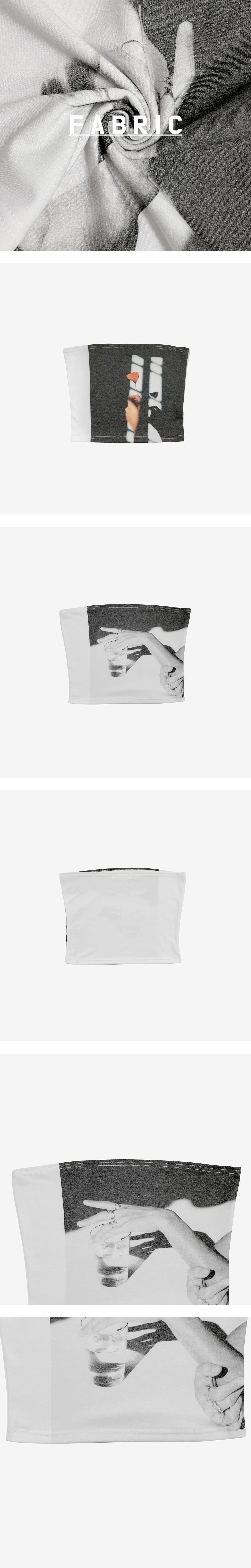 world print tube top