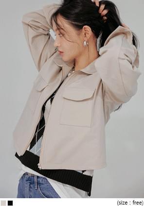 Flap Pocket Boxy Jacket