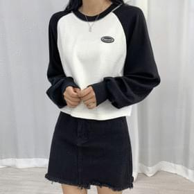 Nageurang patch cropped Sweatshirt scheme