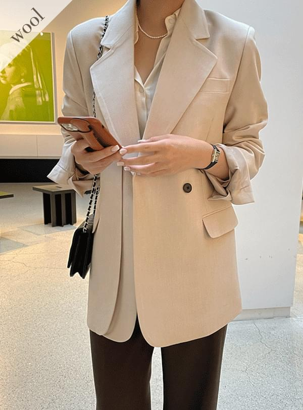 one button double jacket
