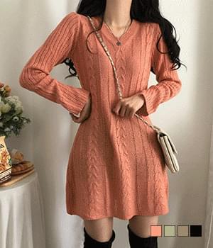Bookle Twisted Mini Knitwear Dress
