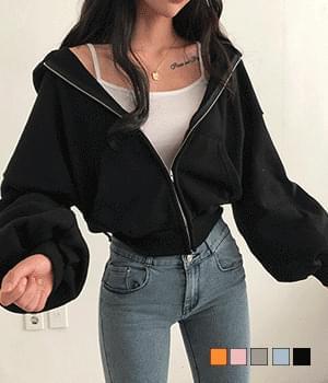 eve wangpuff hoodie zip-up