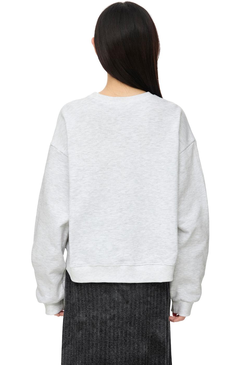 deer-print crew-neck sweatshirt