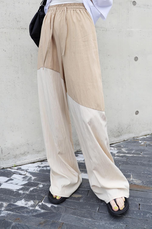 Rayon X Nylon Mix Pants Slacks 長褲