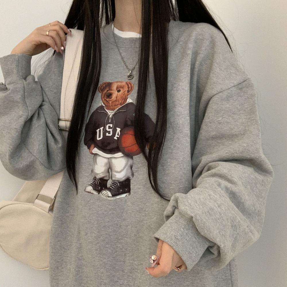 オーバーフィットベアスウェットシャツ