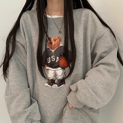 Overfit Bear Sweatshirt