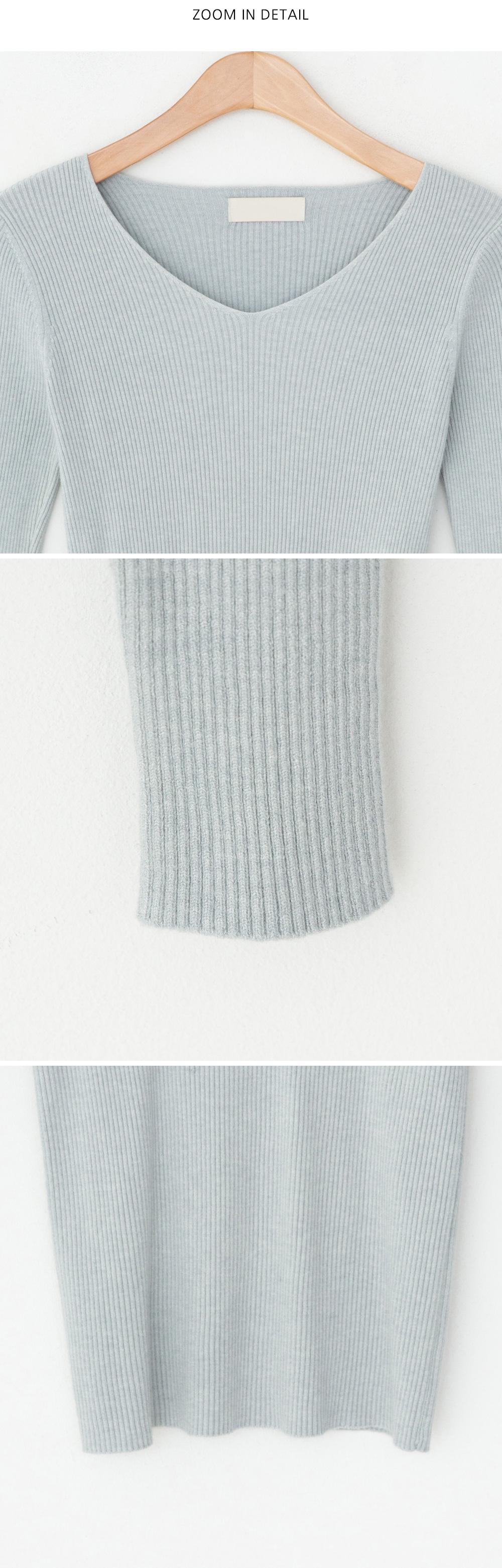 Lenny V-Neck Ribbed Knitwear