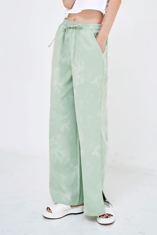 banding tie-dye trousers