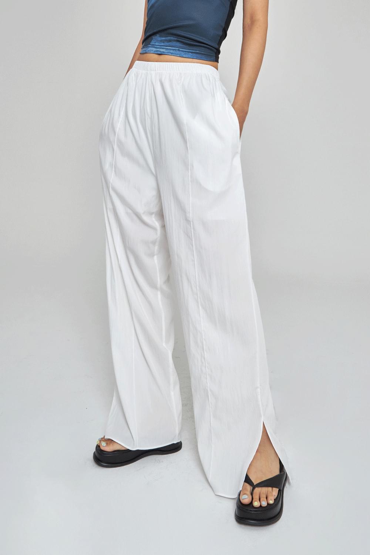 side slit wide pants