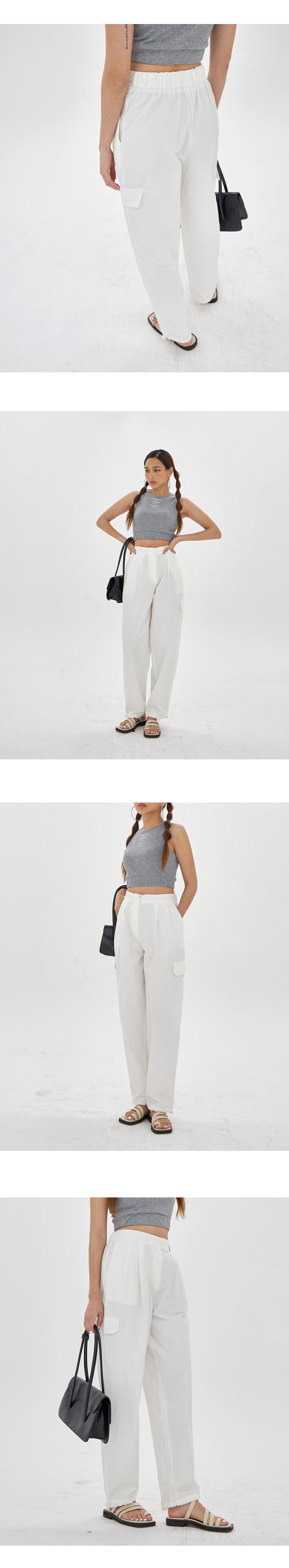 Fake pocket string Pants