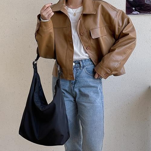 Two-way buckle basic simple big crossbody bag B#YW113