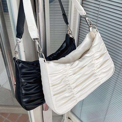 Pleated Point Shirring 3way Chain Shoulder Bag B#YW116