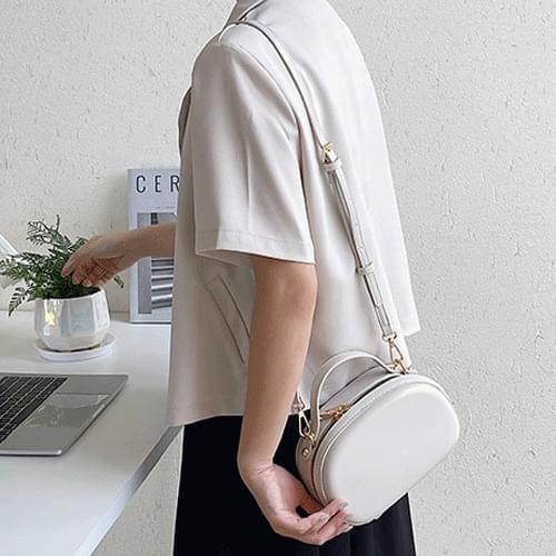 Stitched Oval Pastel Cross Bag Clutch Mini Bag B#YW109