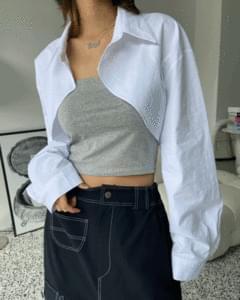 bolero layered cropped shirt