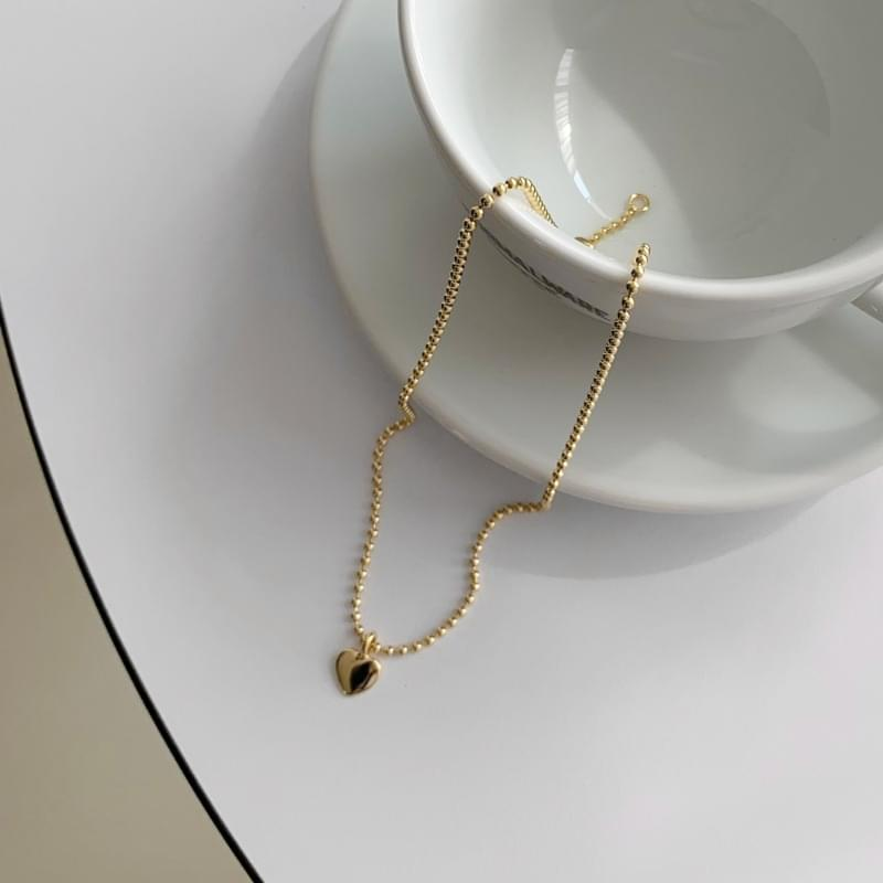 heart ball necklace