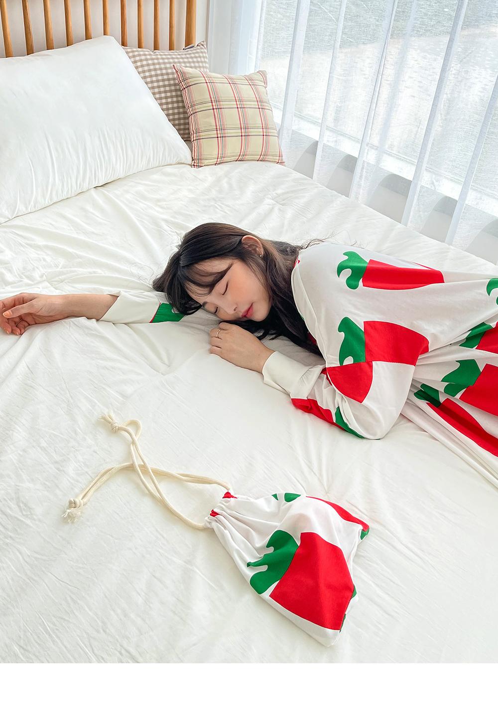 Big Size 55-120 Ked Carrot Pajama Dress Pouch Set