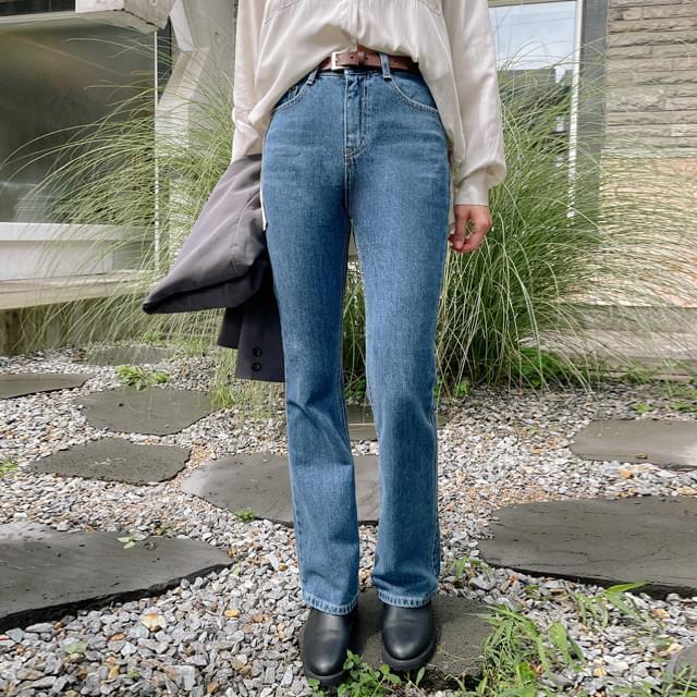 Hide Semi Flared Denim Pants