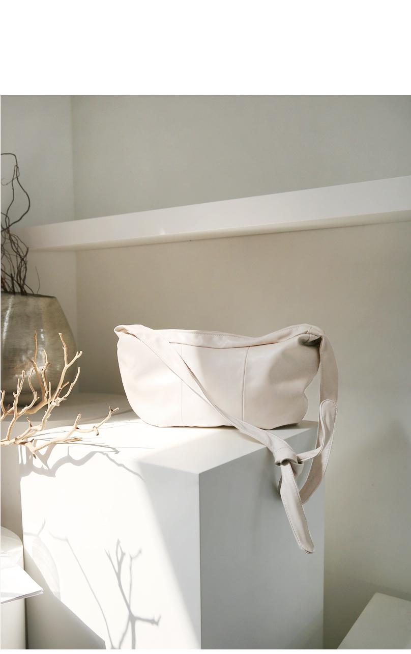 Knotted Strap Leatherette Shoulder Bag