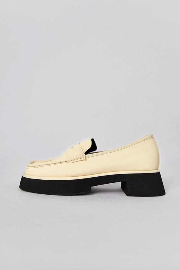 new in square loafers