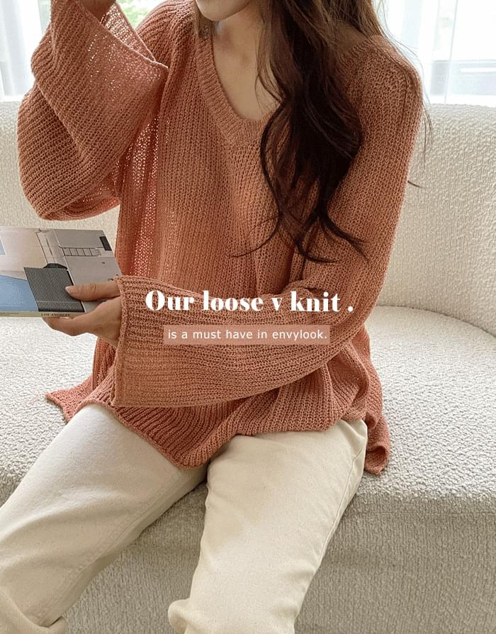 Our Loose V Knitwear