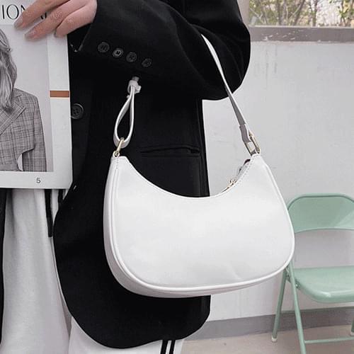 Soft Leather Shoulder Half Moon Cross Bag B#YW117