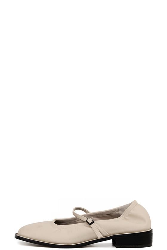 monet shirring belt flat shoes