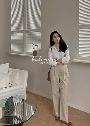 Bedorine collar-neck Loose-fit blouse shirt