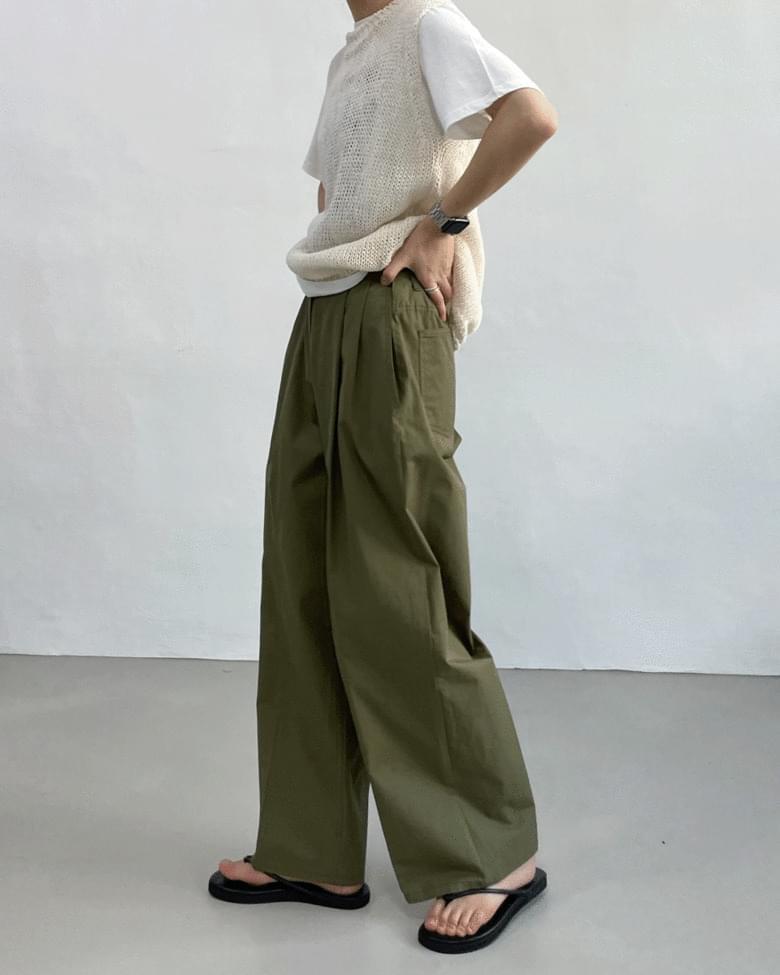 Cargo Cotton Bijou Wide Pants