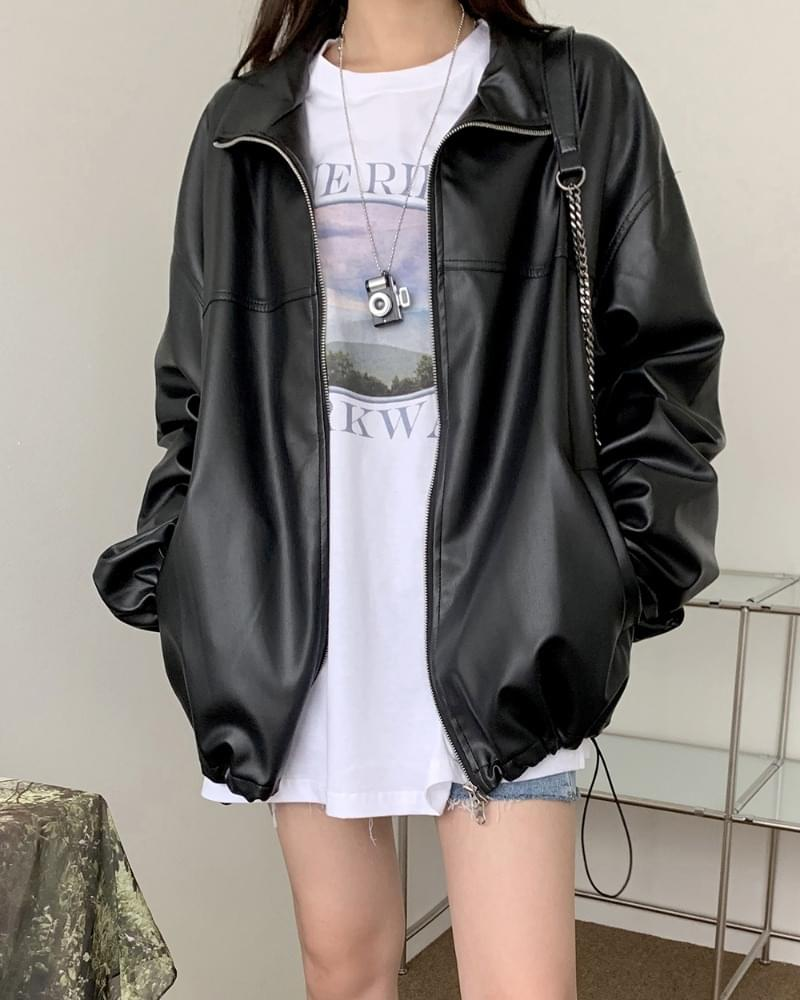 Luther Two-Way Overfit Leather Jacket