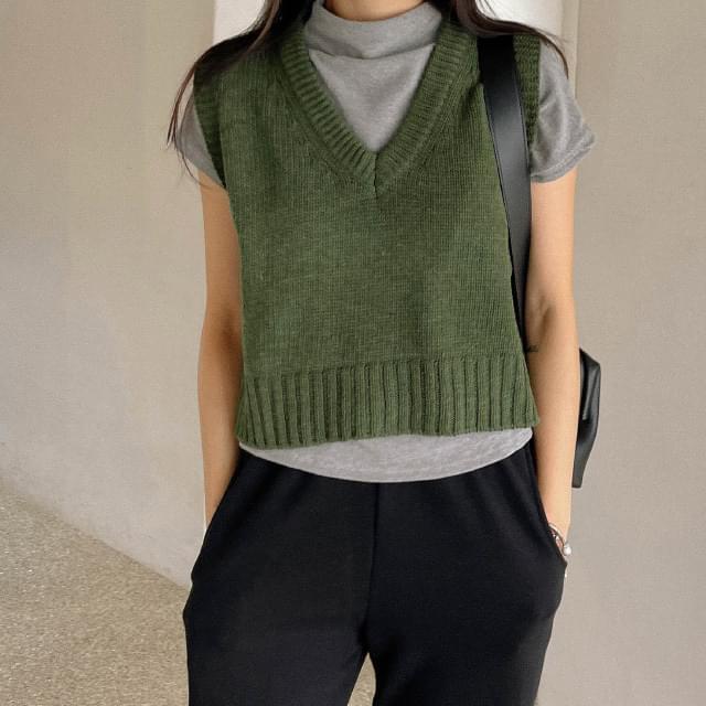 Sense V-Neck Wool Knitwear Vest