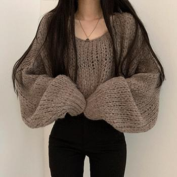 Fluffy Alpaca Yeori Yeori Fit Knitwear