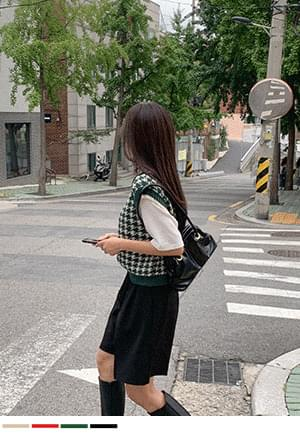 Source Special Check Knitwear Vest