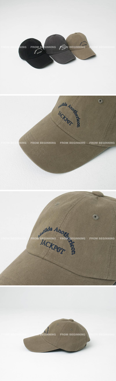 jackpot lettering ball cap