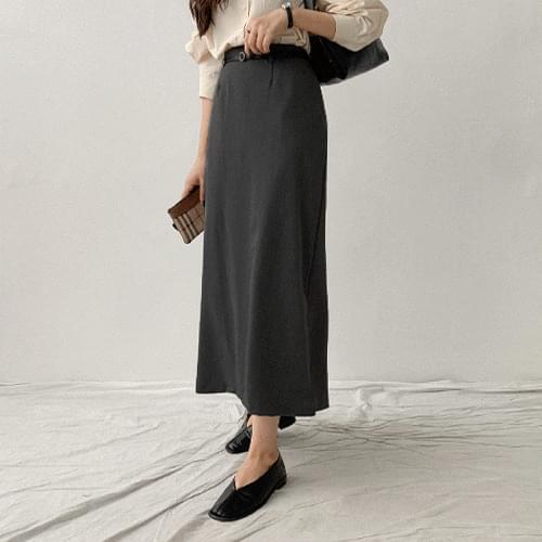 dehow belt long skirt