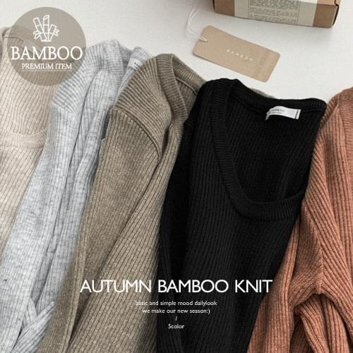 Bamboo Ribbed yunek Knitwear