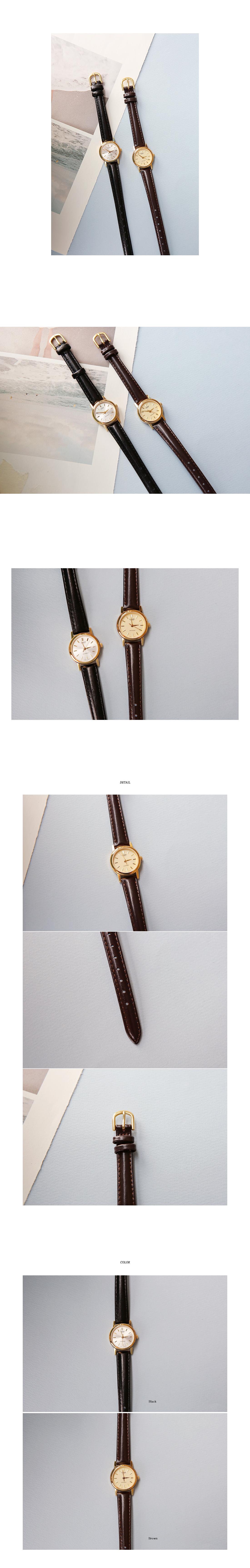 Slim Leatherette Strap Wristwatch