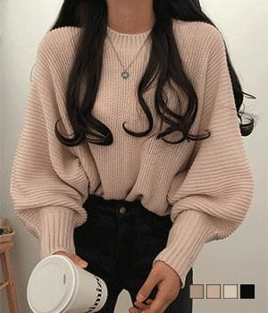 Creamy Stingray Knitwear with Pretty Sleeves