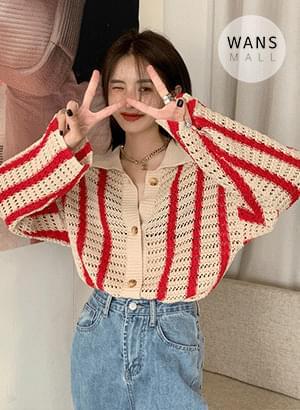 cd5833 vest stripe knitwear cardigan