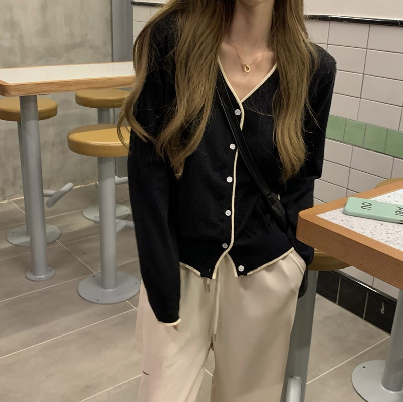 cd5735 low-in color matching line cardigan
