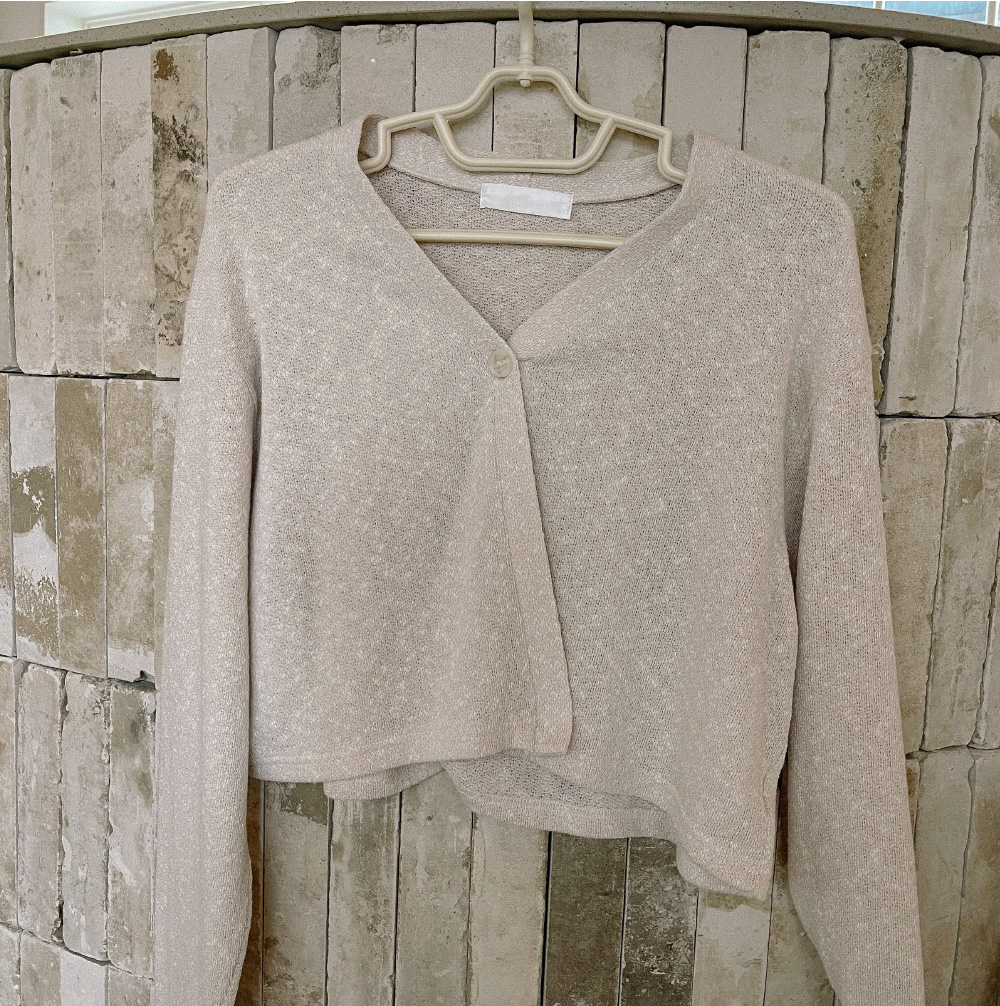 Today one-button cropped cardigan