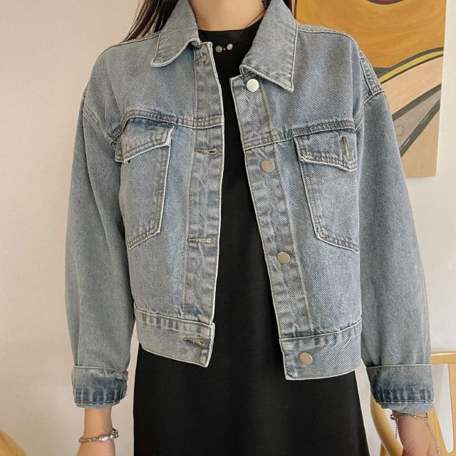 Eight semi-cropped denim jacket