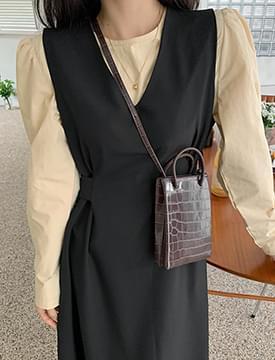 pattern mini square shoulder bag