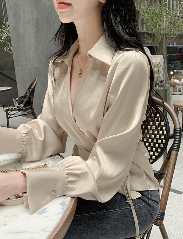 Senia wrap shirt blouse