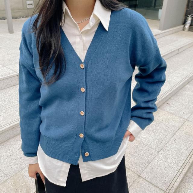 Zady V-neck cropped cardigan 針織外套