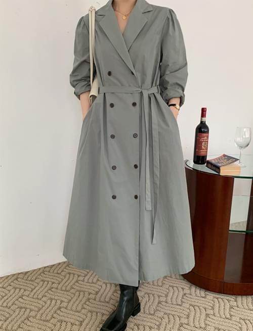 Double Belt Long Jacket Dress