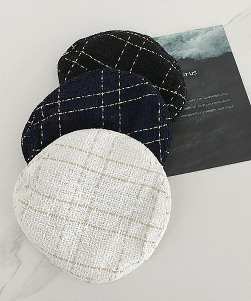 tweed beret - 3color