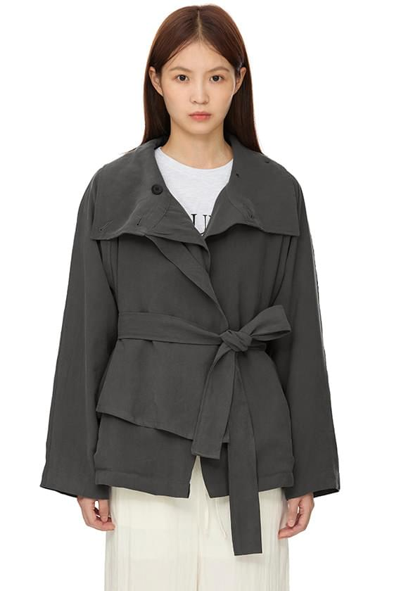 fall-in short trench jacket