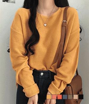 Kasari Hachi Round Neck Basic Knitwear