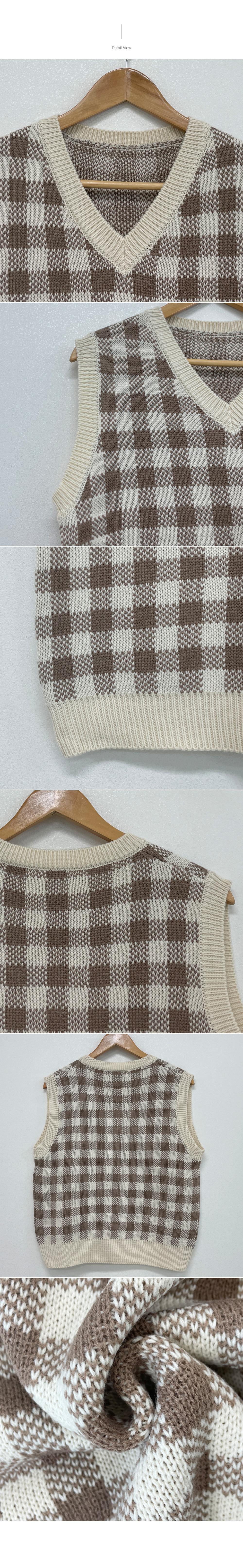 Go, Check V-Neck Knitwear Best Vest