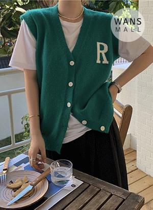 cd6036 ralph logo vest cardigan